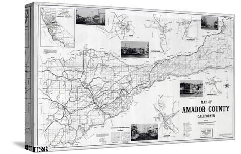 1955, Amador County 1955c, California, United States--Stretched Canvas Print