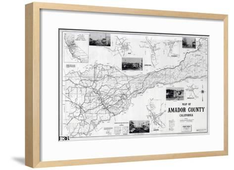 1955, Amador County 1955c, California, United States--Framed Art Print