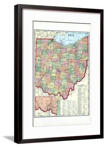 1910, State Map, Ohio, United States--Framed Art Print