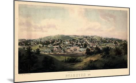 1857, Staunton Bird's Eye View, Virginia, United States--Mounted Giclee Print