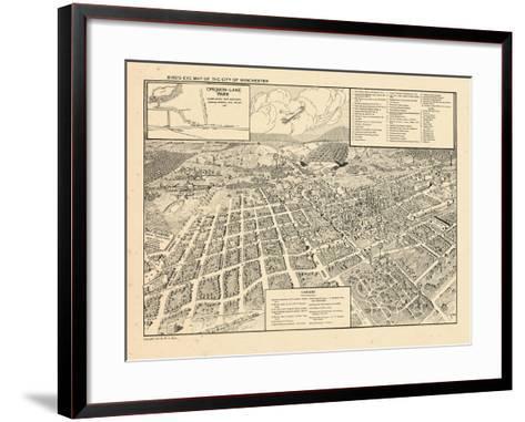 1926, Winchester Bird's Eye View, Virginia, United States--Framed Art Print