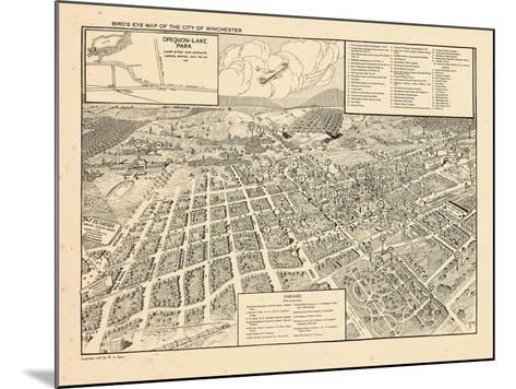 1926, Winchester Bird's Eye View, Virginia, United States--Mounted Giclee Print