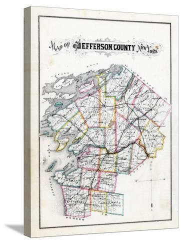 1878, Jefferson County Map, New York, United States--Stretched Canvas Print