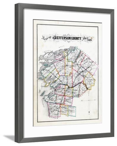1878, Jefferson County Map, New York, United States--Framed Art Print