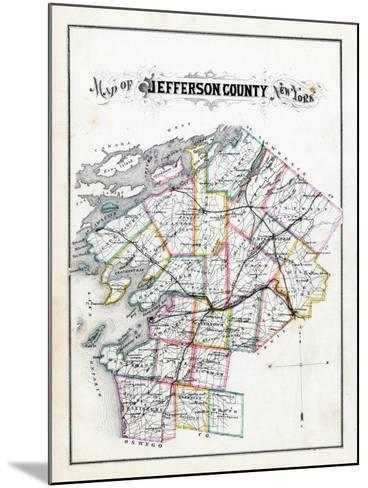 1878, Jefferson County Map, New York, United States--Mounted Giclee Print