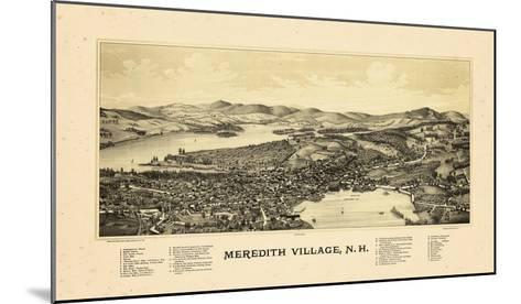 1889, Meredith Village Bird's Eye View, New Hampshire, United States--Mounted Giclee Print