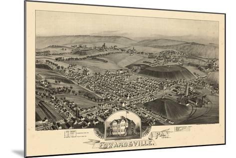 1892, Edwardsville Bird's Eye View, Pennsylvania, United States--Mounted Giclee Print