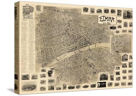 1901, Elmira  Bird's Eye View, New York, United States--Stretched Canvas Print