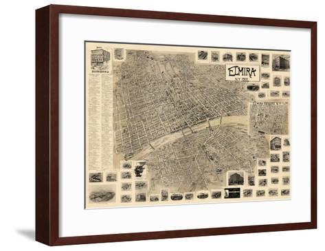 1901, Elmira  Bird's Eye View, New York, United States--Framed Art Print