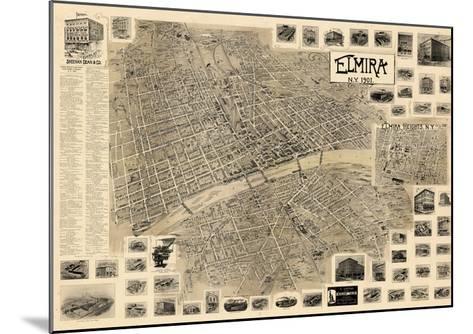 1901, Elmira  Bird's Eye View, New York, United States--Mounted Giclee Print