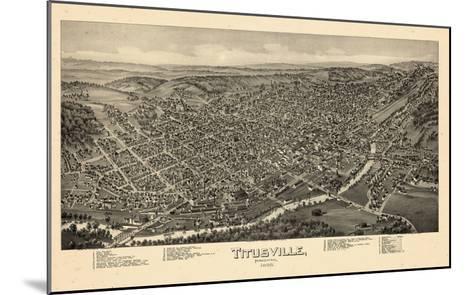 1896, Titusville Bird's Eye View, Pennsylvania, United States--Mounted Giclee Print