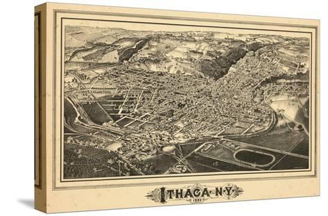 1882, Ithaca Bird's Eye View, New York, United States--Stretched Canvas Print