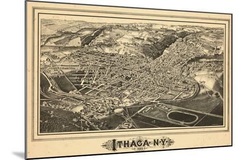 1882, Ithaca Bird's Eye View, New York, United States--Mounted Giclee Print