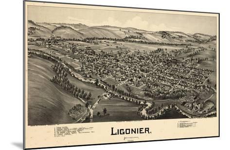1900, Ligonier Bird's Eye View, Pennsylvania, United States--Mounted Giclee Print