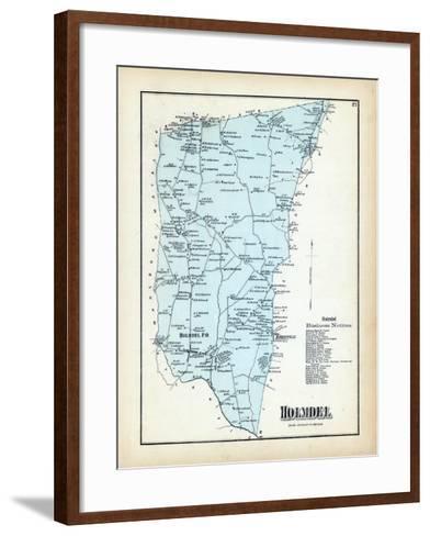 1873, Holmdel Township, New Jersey, United States--Framed Art Print