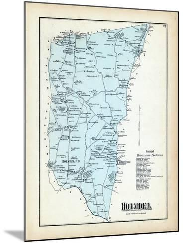 1873, Holmdel Township, New Jersey, United States--Mounted Giclee Print