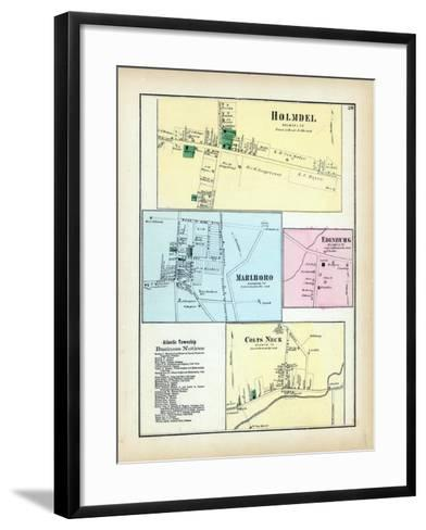 1873, Holmdel, Marlboro, Edinburg, Colts Neck, New Jersey, United States--Framed Art Print
