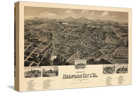 1891, Bedford City Bird's Eye View, Virginia, United States--Stretched Canvas Print