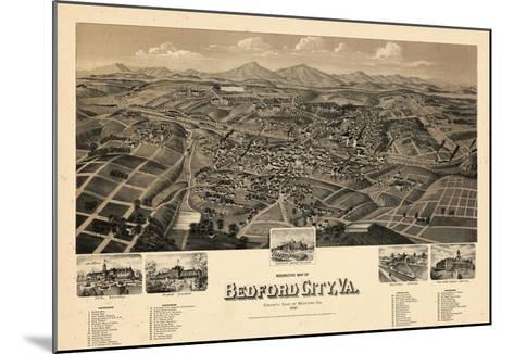 1891, Bedford City Bird's Eye View, Virginia, United States--Mounted Giclee Print