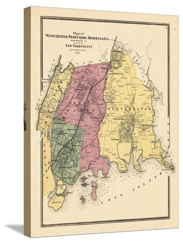 1867, Westchester, Westfarms, Morrisania Plan (Westchester Co, & Part Of New York Co.), New York, U--Stretched Canvas Print