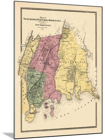 1867, Westchester, Westfarms, Morrisania Plan (Westchester Co, & Part Of New York Co.), New York, U--Mounted Giclee Print