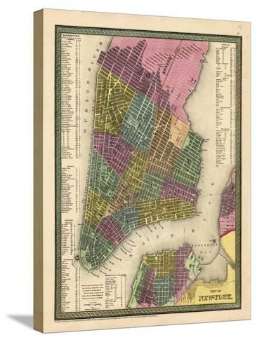 1850, New York City Battery ParkMap, New York, United States--Stretched Canvas Print