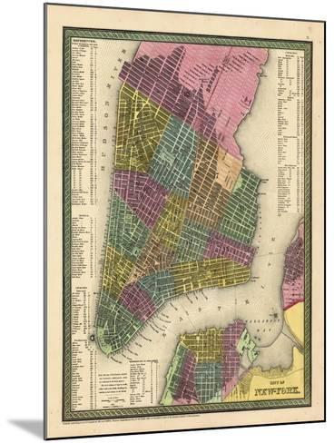 1850, New York City Battery ParkMap, New York, United States--Mounted Giclee Print