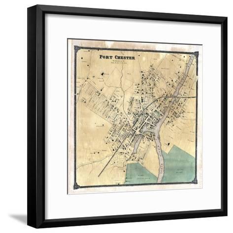 1867, Port Chester, New York, United States--Framed Art Print