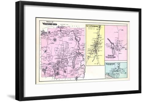 1880, Waterford Town, Waterford South, Waterford North, Waterford, Maine, United States--Framed Art Print