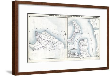 1914, Sands Point, Center Island and Cove Neck, New York, United States--Framed Art Print