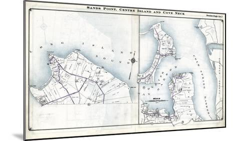 1914, Sands Point, Center Island and Cove Neck, New York, United States--Mounted Giclee Print