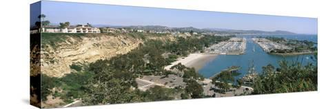 High Angle View of a Harbor, Dana Point Harbor, Dana Point, Orange County, California, USA--Stretched Canvas Print