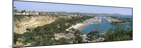 High Angle View of a Harbor, Dana Point Harbor, Dana Point, Orange County, California, USA--Mounted Photographic Print