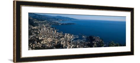 City at the Waterfront, Monte Carlo, Monaco--Framed Art Print