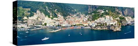 Aerial View of Towns, Amalfi, Atrani, Amalfi Coast, Salerno, Campania, Italy--Stretched Canvas Print