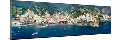 Aerial View of Towns, Amalfi, Atrani, Amalfi Coast, Salerno, Campania, Italy--Mounted Photographic Print