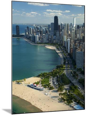 Aerial View of a City, Lake Michigan, Chicago, Cook County, Illinois, USA 2010--Mounted Photographic Print