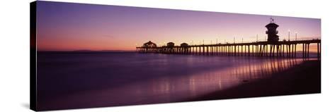 Pier in the Sea, Huntington Beach Pier, Huntington Beach, Orange County, California, USA--Stretched Canvas Print