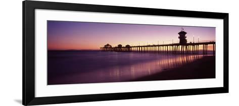 Pier in the Sea, Huntington Beach Pier, Huntington Beach, Orange County, California, USA--Framed Art Print