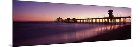 Pier in the Sea, Huntington Beach Pier, Huntington Beach, Orange County, California, USA--Mounted Photographic Print