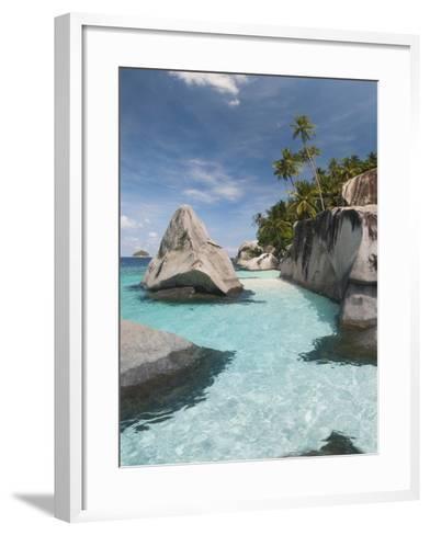 Rock Formations on the Coast, Pulau Dayang Beach, Malaysia--Framed Art Print