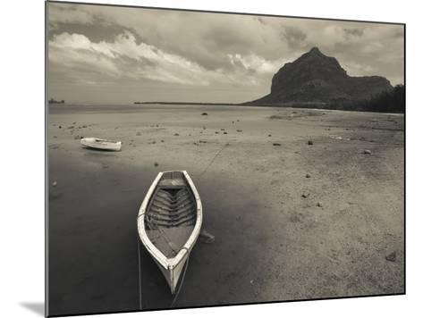 Boats on the Beach, Le Morne Brabant, Mauritius--Mounted Photographic Print