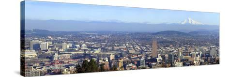 Buildings in a City Viewed from Pittock Mansion, Portland, Multnomah County, Oregon, USA 2010--Stretched Canvas Print