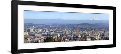 Buildings in a City Viewed from Pittock Mansion, Portland, Multnomah County, Oregon, USA 2010--Framed Art Print