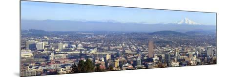 Buildings in a City Viewed from Pittock Mansion, Portland, Multnomah County, Oregon, USA 2010--Mounted Photographic Print