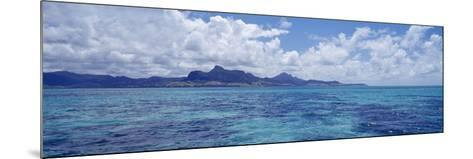 Ocean with Mountains in the Background, Mauritius--Mounted Photographic Print