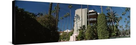 Trees in Front of a Hotel, Beverly Hills Hotel, Beverly Hills, Los Angeles County, California, USA--Stretched Canvas Print