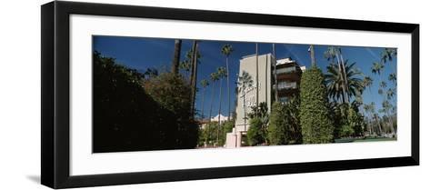 Trees in Front of a Hotel, Beverly Hills Hotel, Beverly Hills, Los Angeles County, California, USA--Framed Art Print