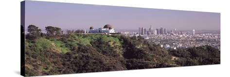 Observatory on a Hill with Cityscape in the Background, Griffith Park Observatory, Los Angeles, ...--Stretched Canvas Print