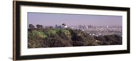 Observatory on a Hill with Cityscape in the Background, Griffith Park Observatory, Los Angeles, ...--Framed Art Print